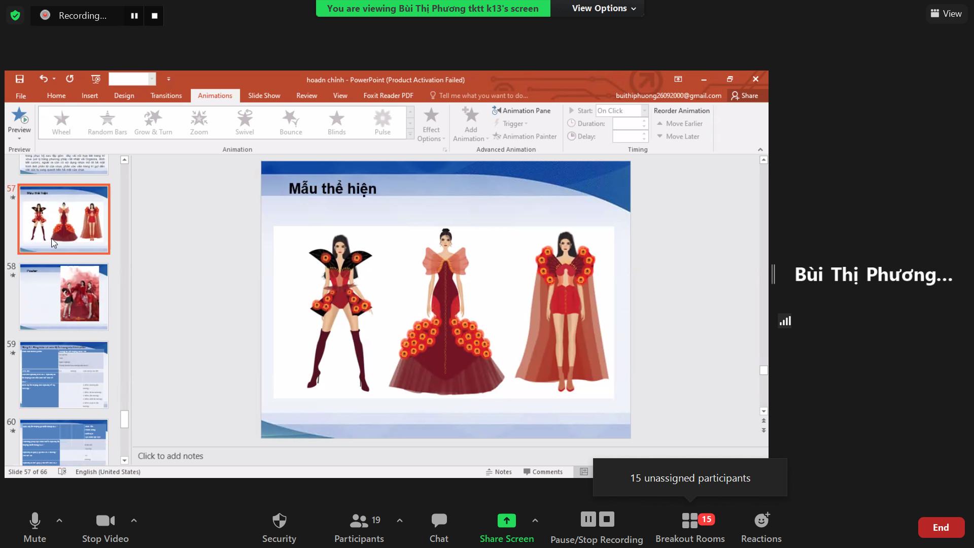 Nghiệm thu đề tài NCKH của sinh viên năm 2021 Khoa Công nghệ May & Thiết kế thời trang