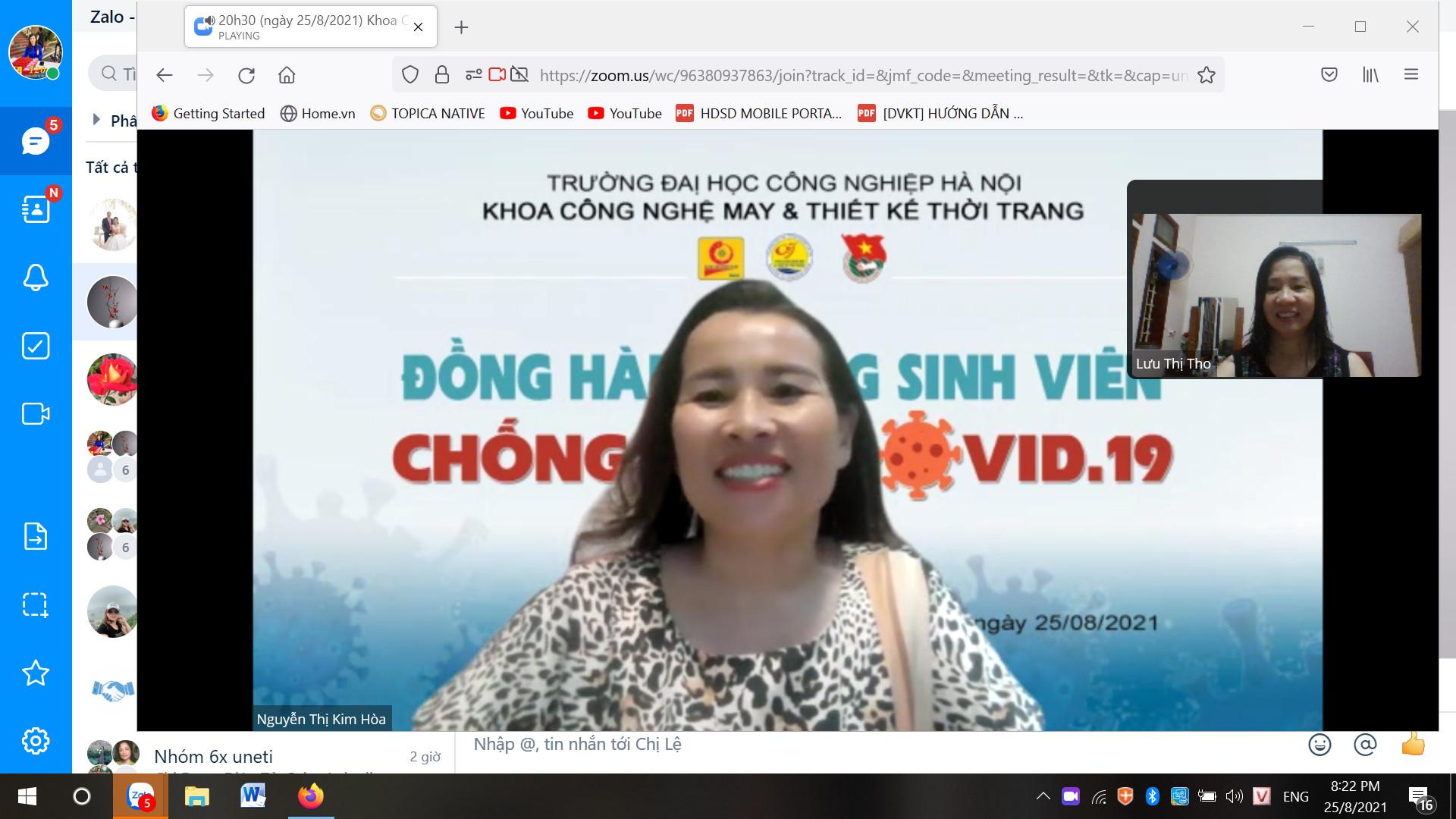 Khoa Công Nghệ May - TKTT đồng hành cùng sinh viên chống dịch covit 19